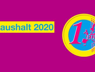 Haushalt 2020: Wir stehen vor großen Herausforderungen!